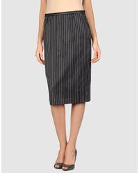 Gai Mattiolo - Black 3/4 Length Skirt - Lyst