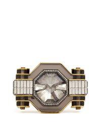 Lanvin - Metallic Crystal Enamel Cuff - Lyst