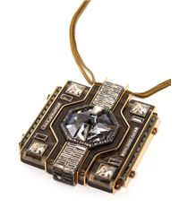 Lanvin - Metallic Square Pendant Necklace - Lyst