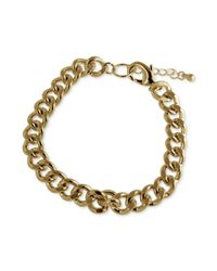 Marc Ecko - Metallic Goldtone Link Bracelet - Lyst