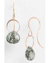 Melissa Joy Manning | Gray Drop Earrings - Tourmalated Quartz | Lyst