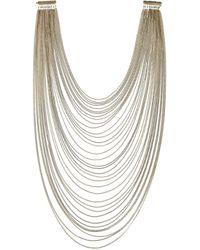Rosantica - Metallic Millefili Golddipped Quartz Necklace - Lyst