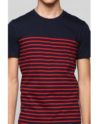 Urban Outfitters | Blue Bdg Engineered Thin Stripe Tee for Men | Lyst