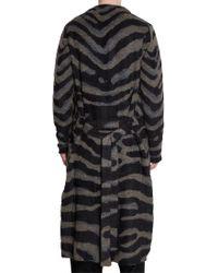 Yohji Yamamoto | Gray Zebra Jacquard Long Cardigan for Men | Lyst