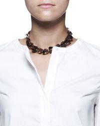 Brunello Cucinelli - Brown Smoky Quartz Choker Neklace for Men - Lyst