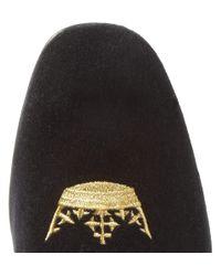 Church's | Black Sovereign Embroidered Velvet Slippers for Men | Lyst