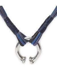 Folk   Blue Leather Strand Bracelet for Men   Lyst