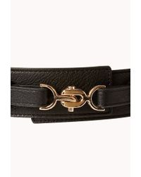Forever 21 - Black Standout Faux Leather Waist Belt - Lyst