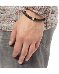 Luis Morais - Black White Gold And Ebony Bead Bracelet for Men - Lyst