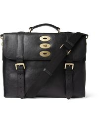 Mulberry - Black Ted Convertible Leather Messenger Bag for Men - Lyst