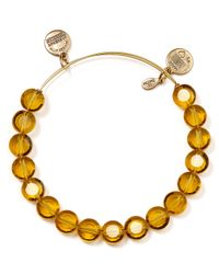 ALEX AND ANI | Luxe Dark Yellow Bangle | Lyst