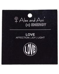 ALEX AND ANI - Metallic Open Love Bangle - Lyst