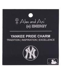 ALEX AND ANI - Metallic New York Yankees Primary Logo Bangle - Lyst