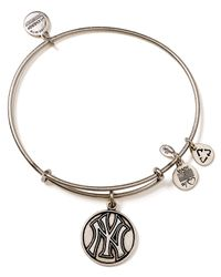 ALEX AND ANI - Metallic New York Yankees Cap Logo Bangle - Lyst