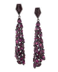 Alexis Bittar | Miss Havisham Purple Crystal Drop Earrings | Lyst