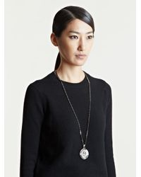 Givenchy - Black Womens Medallion Chain Necklace - Lyst