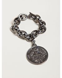 Givenchy | Black Womens Small Brass Medallion Bracelet | Lyst