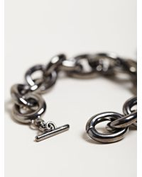 Givenchy - Black Womens Small Brass Medallion Bracelet - Lyst