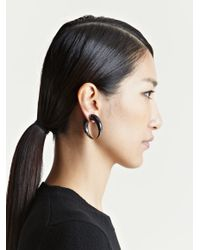 Givenchy - Gray Womens Double Shark Brass Earring - Lyst