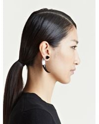 Givenchy - Gray Womens Large Mineral Stone Earring - Lyst
