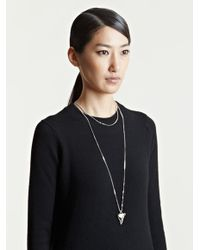 Givenchy | Metallic Womens Brass Shark Tooth Necklace | Lyst