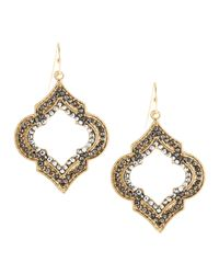 Panacea | Metallic Hematite Quatrefoil Golden Earrings | Lyst