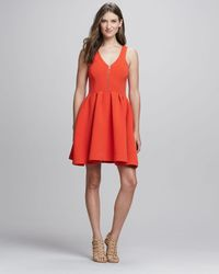 Rebecca Minkoff | Orange Royce Frontzip Dress | Lyst
