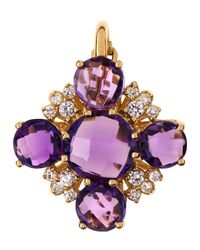 Roberto Coin | Purple Amethyst Cross Pendant | Lyst