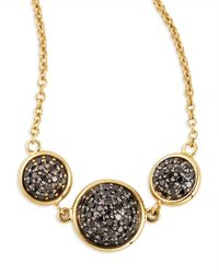 Syna | Chakra Reversible Black/champagne Diamond Necklace | Lyst