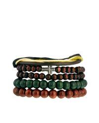 ASOS - Brown Bracelet Pack with Cross for Men - Lyst