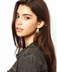 ASOS - Metallic Filigree Hoop Earrings - Lyst