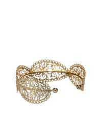 ASOS - Metallic Paisley Filigree Cuff Bracelet - Lyst