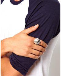ASOS - Metallic Ring with Oragami Skull - Lyst
