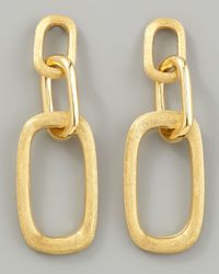 Marco Bicego | Metallic Murano 18k Brushed Gold Link Drop Earrings | Lyst