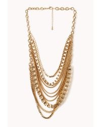 Forever 21 | Metallic Edgy Multichain Layered Necklace | Lyst