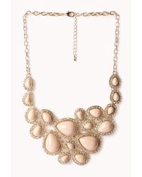 Forever 21 | Metallic Glam Bib Necklace | Lyst