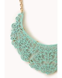 Forever 21 - Green Regal Filigree Bib Necklace - Lyst