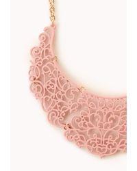 Forever 21 | Pink Regal Filigree Bib Necklace | Lyst
