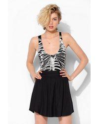 Urban Outfitters - Black Sparkle Fade Skeleton Bodysuit - Lyst