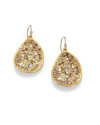 Alexis Bittar | Metallic Miss Havisham Crystal Drop Earrings/goldtone | Lyst