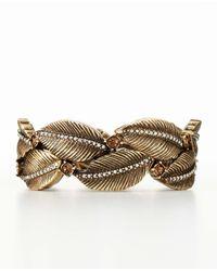 Ann Taylor | Metallic Botanical Stone Bracelet | Lyst