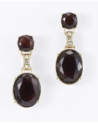 Ann Taylor - Black Uptown Drop Earrings - Lyst