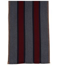 Brooks Brothers - Purple Double Faced Merino Bold Stripe Scarf for Men - Lyst