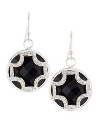 Elizabeth Showers | Black Onyx Sapphire Maltese Cross Dangle & Drop Earrings | Lyst