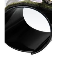 Emporio Armani - Green Resin Bracelet with Stones - Lyst