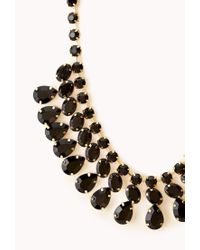 Forever 21 - Metallic Faceted Faux Stone Necklace - Lyst