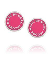 Marc By Marc Jacobs - Pink Enameled Silvertone Earrings - Lyst