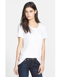 Rag & Bone | White Slub Cotton T-shirt | Lyst