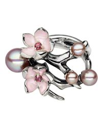 Shaun Leane - Red Cherry Blossom Branch Ring - Lyst