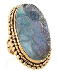 Stephen Dweck | Metallic Long Oval Carved Mother of Pearl Ring Size 7 | Lyst